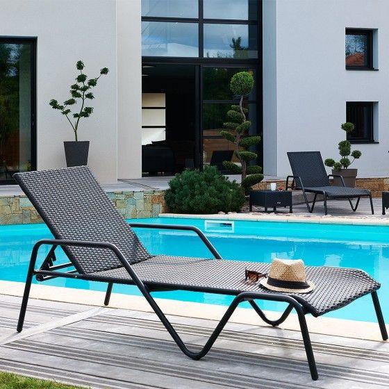 Lit de piscine avec accoudoirs Atylia prix promo Transat Atylia 244,00 € TTC.
