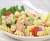 Dreamfields Pasta's Salmon Pasta Salad with Mint and Lemon Vinaigrette