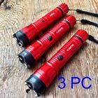 3 LOT RED MONSTER Stun Gun 16 Million Volt Rechargeable LED Flashlight FRDx3