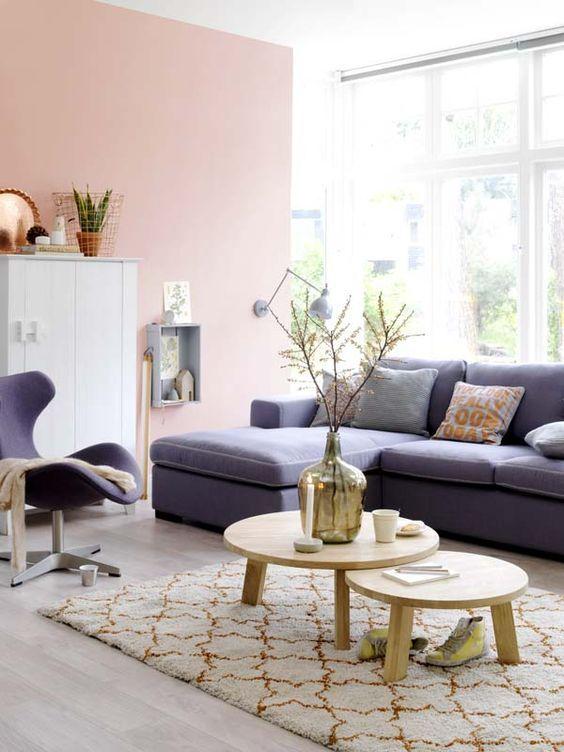 25+ beste ideeën over roze woonkamers op pinterest - grijze bank, Deco ideeën