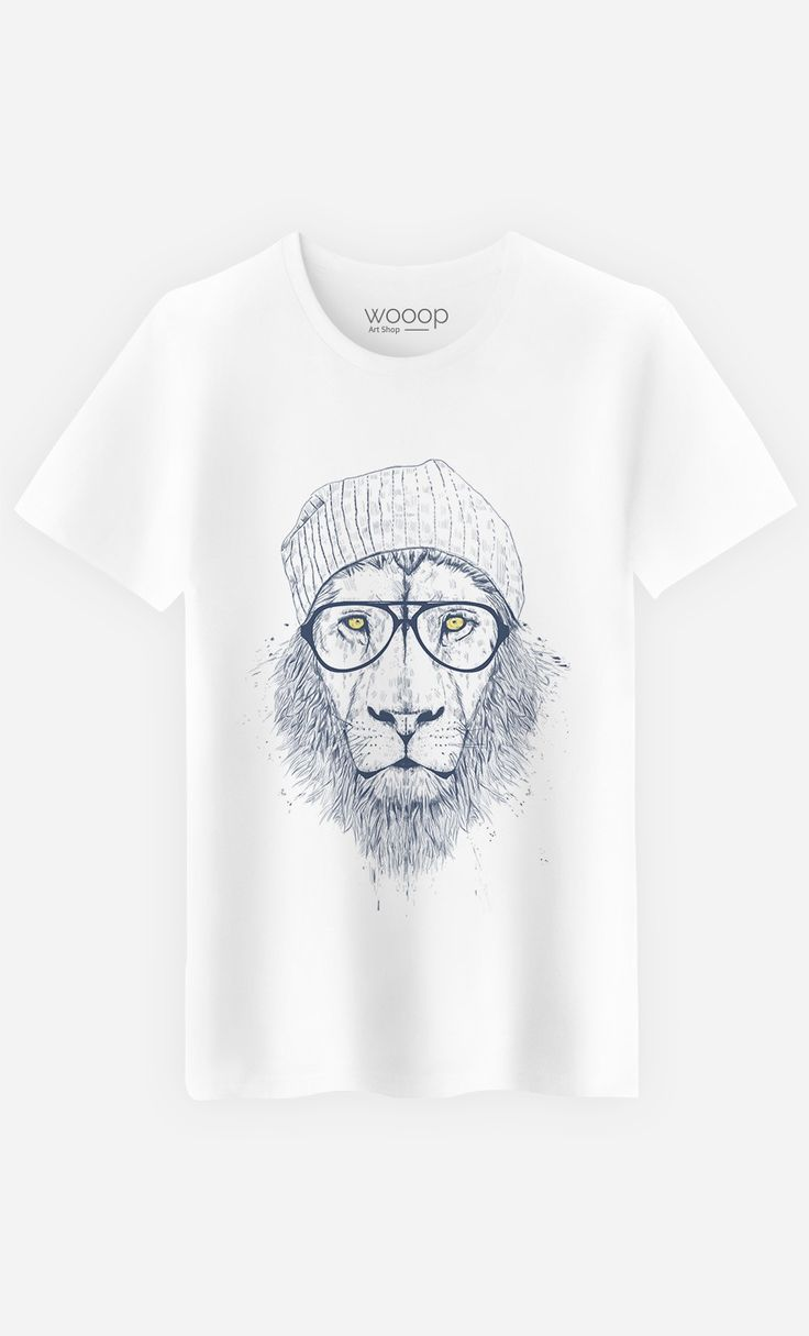 "T-Shirt Homme Original ""Cool Lion"" by Solti Balazs - Art Shop - Wooop.fr"