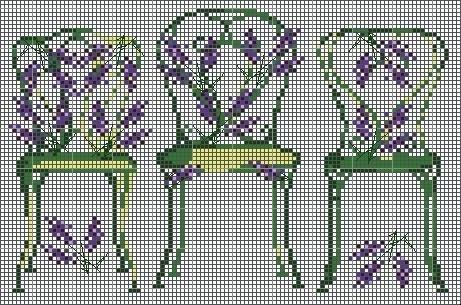 grille chaises vertes