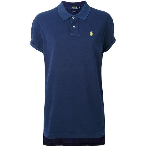 Polo Ralph Lauren embroidered logo polo shirt (1.424.185 IDR) ❤ liked on Polyvore featuring tops, blue, polo ralph lauren, blue top, blue polo shirts and polo shirts