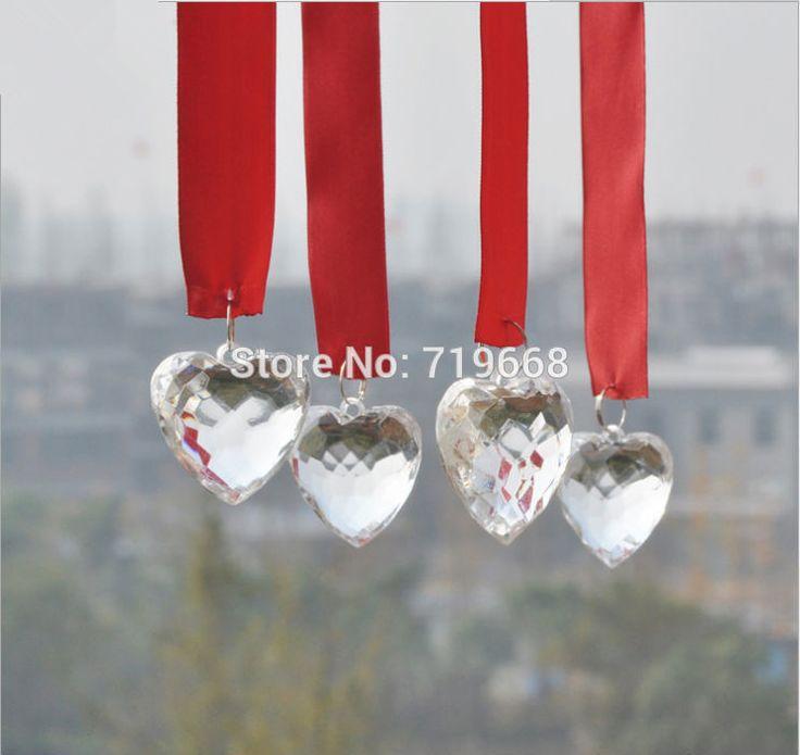 Акции!10 метров/лот акриловые из бисера с красный кристалл лента гирлянда пряди для свадьбы украшение люстра дерево