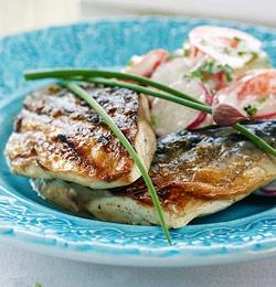 Grillet makrell med sommersalat