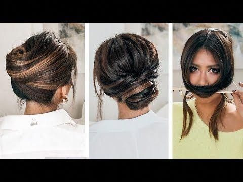 LAZY, 👉but KEEP IT ELEGANT UPDOS | 2019 SPRING HAIRSTYLES FOR LONG MEDIUM HAIR - YouTube #sideUpdos
