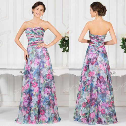 Only-For-You-Flower-Summer-Beach-dress-Formal-Cocktail-Party-Evening-Long-Dress