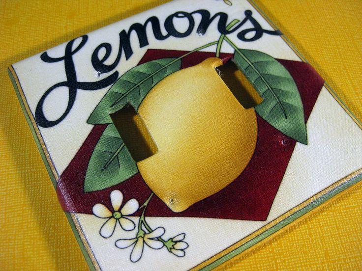 Lemon Kitchen Decor Switchplate Lemon Theme Kitchen