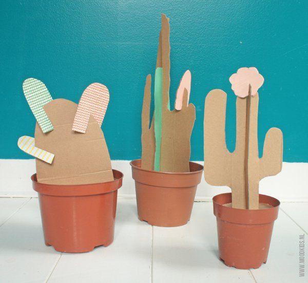 DIY cactus van karton