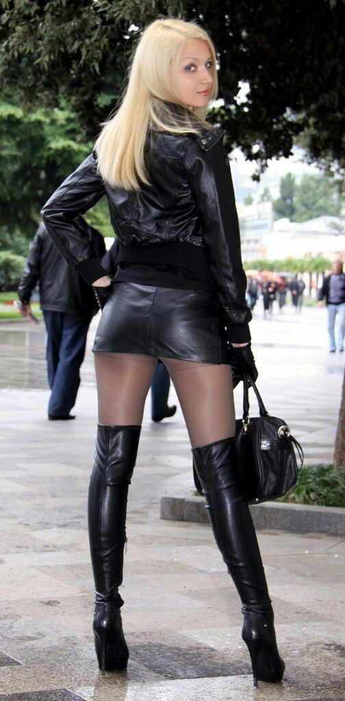 Smoking Latex Fetish  Leather Clothes  Sexy Boots, Sexy -2599