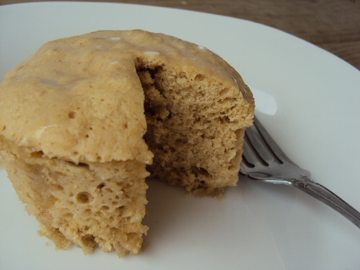 Two Minute Peanut Butter Cake. Much more trouble than the Five Minute Chocolate Mug Cake, because it cuts off three minutes.     http://www.cheerfulmadhouse.com/2012/01/30/two-minute-peanut-butter-cake/