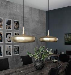 New Clava Dine Leuchten in geb rstetem Messing u eleganter Auftritt am Esstisch oder Arbeitsplatz http