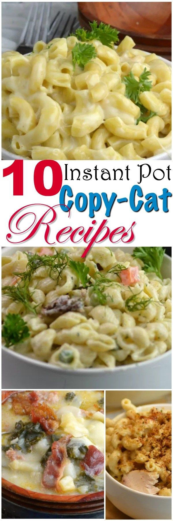 Share with friends9 178  1  188Shares10 Instant Pot Copy Cat Recipes Now that my kids are grown and out of the house, my husband and I love to go out to eat. I love to come home and try to make the same dish at home for half the cost right in my Instant Pot. I have 10 …