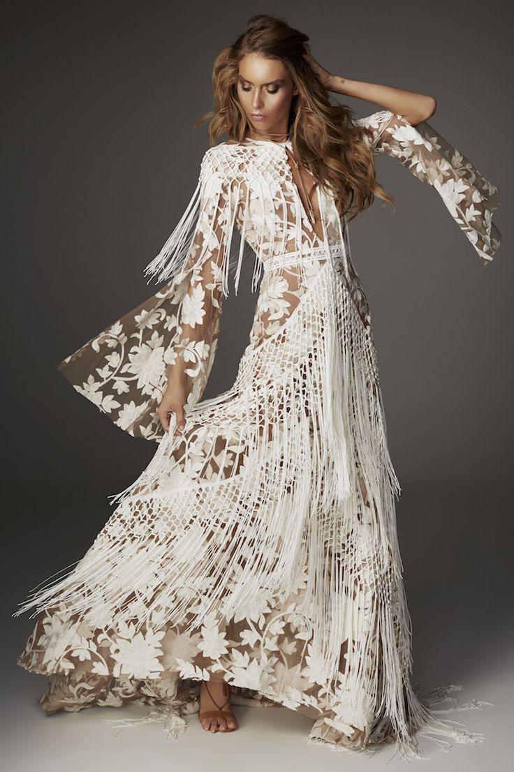 Rue de seine fringe wedding dress 2017 love spell for Where to buy boho wedding dresses
