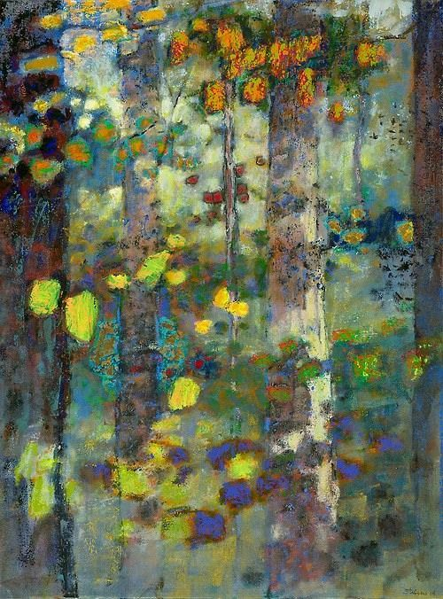 """ Rick Stevens, USA new work When All Was Wild III (2014) oil on canvas 36 x 27…"