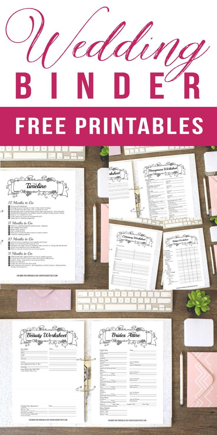 Check Out This Wedding Binder Full Of Free Printables 42 Freebies To Plan Your En Wedding Planner Printables Wedding Binder Printables Free Wedding Printables