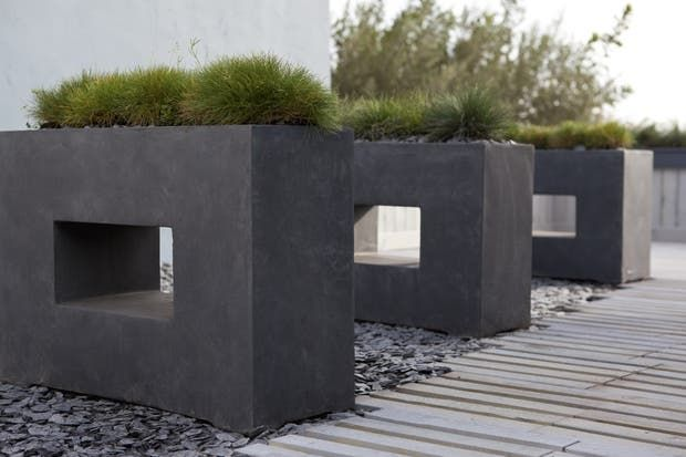 Jardiniere Fibre L 75 X L 27 X H 52 Cm Gris Anthracite Leroy Merlin En 2020 Jardiniere Design Plante Pour Jardiniere Jardiniere Terrasse