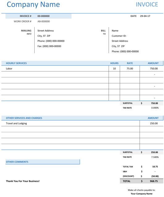Best Consultant Invoice Templates Images On