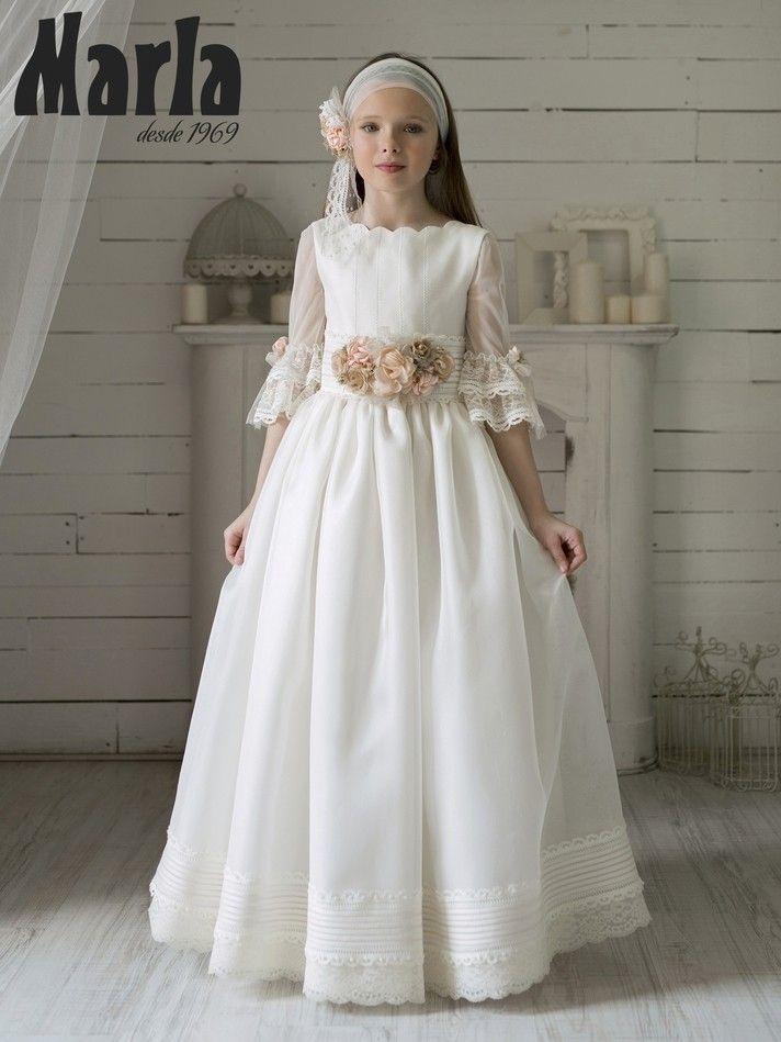Vestido Comunión Marla 2020 Modelo K197 Vestidos De Comunión Vestido Floral Para Chicas Vestidos De Primera Comunión