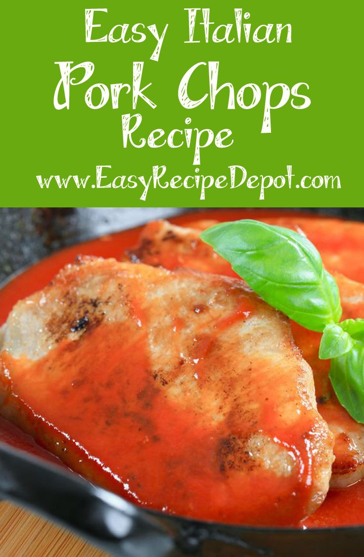 Quick and easy recipe for Italian Pork Chops. This recipe uses just the basics to make absolutely delicious pork chop right on the stove top. You will love this quick and easy recipe!
