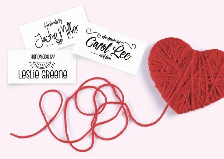 Custom Fabric Labels Black & White Doodles Sew-on Iron-on