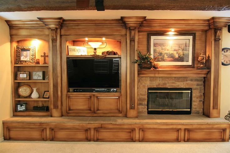 Entertainment Center With Fireplace   Google Search