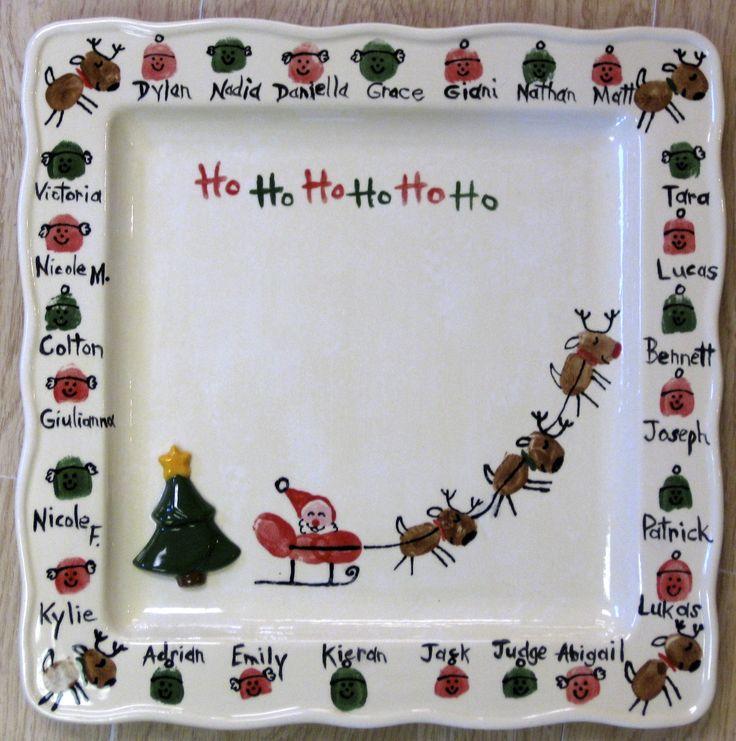 Fingerprint reindeer and Santa. So Cute