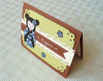 SBDSet Geisha e Biglietto d'auguri - Card Geisha setby SweetBioDesign
