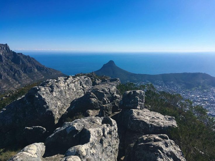 At 1001 metres from the top of Devils Peak one can view (from left to right) Table Mountain Lions Head and Signal Hill in a single frame. Photo: @davidcmike  #CapeTown #SouthAfrica #ilovecapetown #signalhill #lionshead #tablemountain #devilspeaks #naturalbeauty #hiking #tablemountainnationalpark