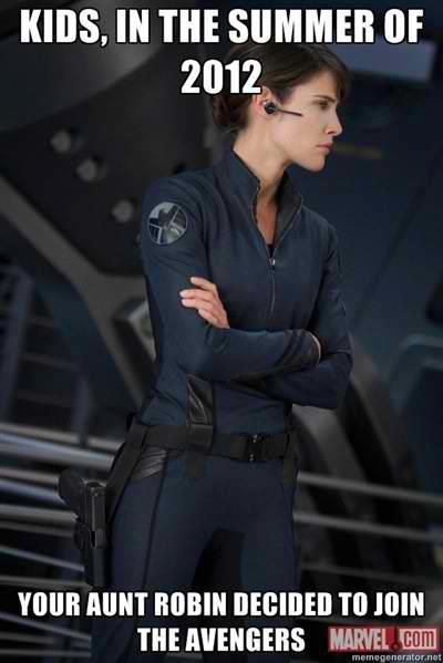 @Jenna Nelson Salladin: With, Mother, Movie, Cobie Smulders, Theavengers, Maria Hill, The Avengers, Aunt Robin