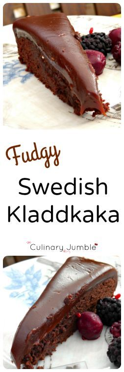 Kladdkaka with a Fudgy Topping