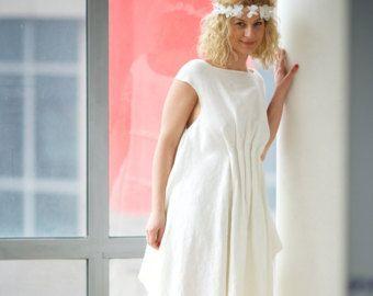 Linen Wedding Dress, Linen Dress, Beach Wedding Dress, Boho Wedding Dress, Plus Size Dress, Sleeveless Dress, Kaftan Dress, White Dress