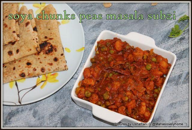 soya chunks peas curry | soya nuggets Peas masala | Soya matar curry | Soya chunks curry recipes for roti | Soya matar subji | Nutrela matar subzi
