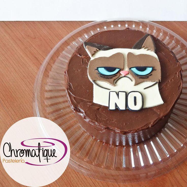 Grumpy Cat cake (Torta del Gato Gruñón) https://www.facebook.com/ChromatiquePasteleria