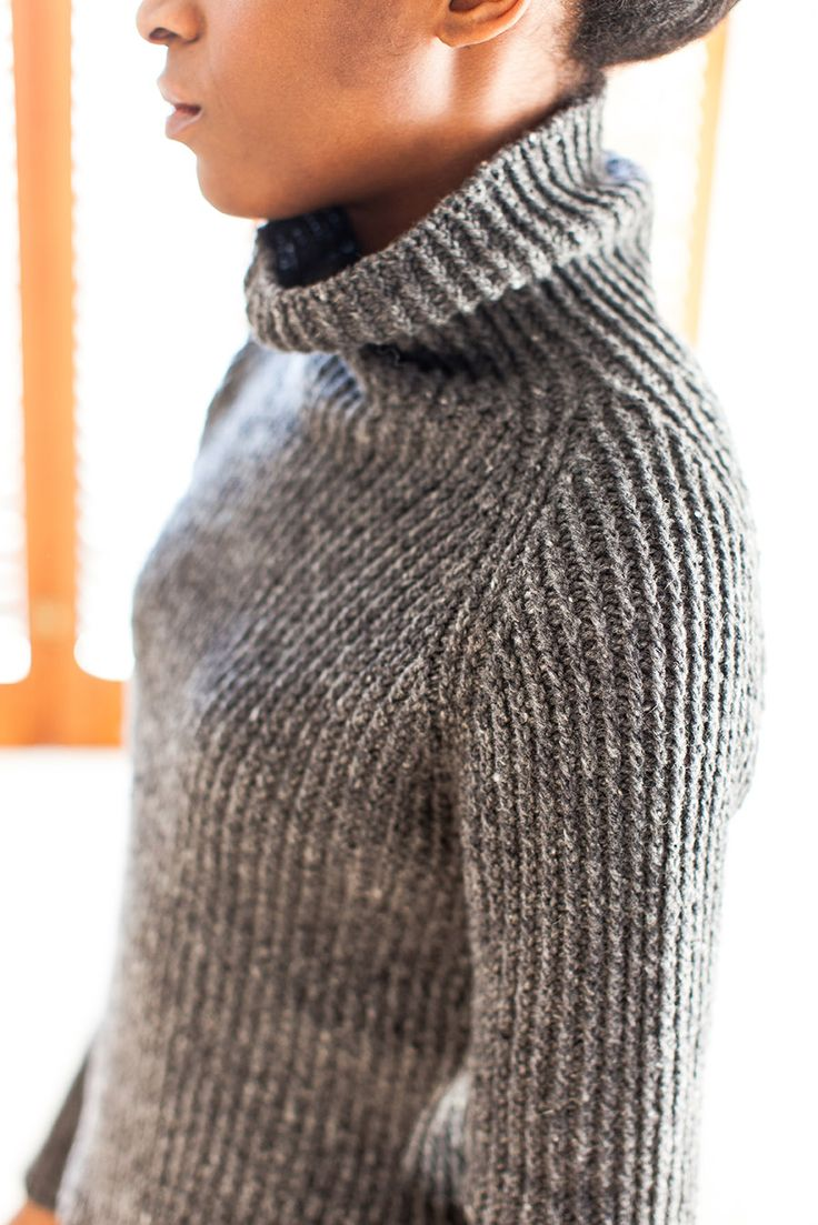 HUDSON TWISTED RIB TURTLENECK