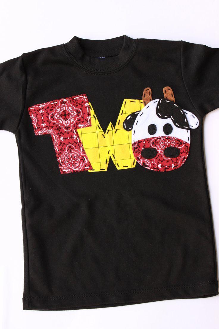 Barnyard Birthday Shirt Two Cow 2nd T Barn Yard Farm Theme Boy Black 2399 Via Etsy