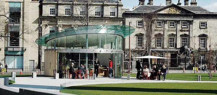Edinburgh Coffee Republic chairs and parasols