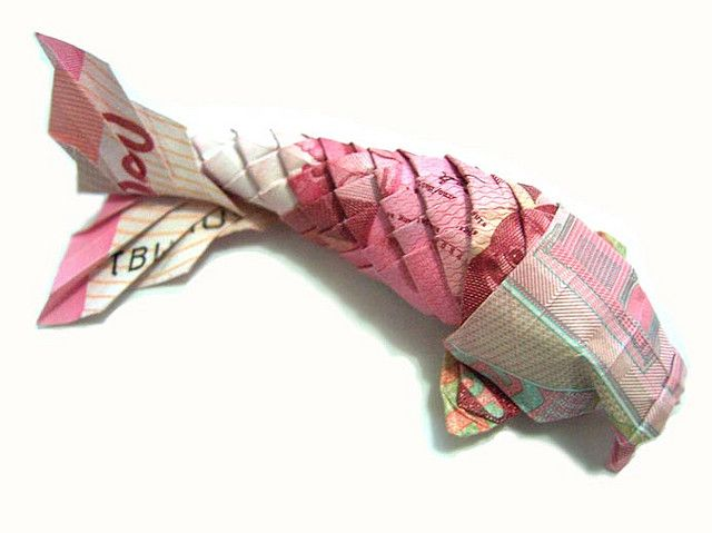 oragami koi, I have to have a go at this...