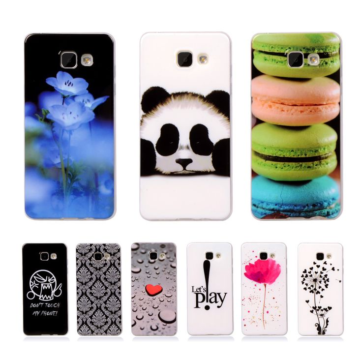 """A510 Cartoon Rubber Silicone Printed Cover For Samsung Galaxy A5 (2016) A510 A510F 5.2"""" Phone Cases Soft Plasitc Flower Back Bag"""