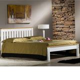 Birlea 135cm Denver Wooden Double Bedframe in White with Sprung Slats Dimensions(cm): Width: 145 Length: 200 Headboard Height: 97Shaker style Wax White finish with Antique Pine topsSolid pine slatsEasy self-assemblyImage Representative of Style and will vary according t http://www.comparestoreprices.co.uk/beds/birlea-135cm-denver-wooden-double-bedframe-in-white-with-sprung-slats.asp