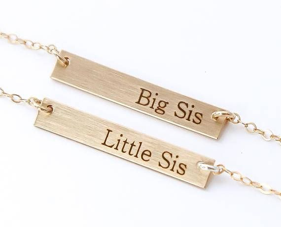 Sister Necklaces for 2 / lil sis big sis Necklaces / Sister Birthday Gift / Friendship Necklace / Gifts for sister / lil Sister Big Sister