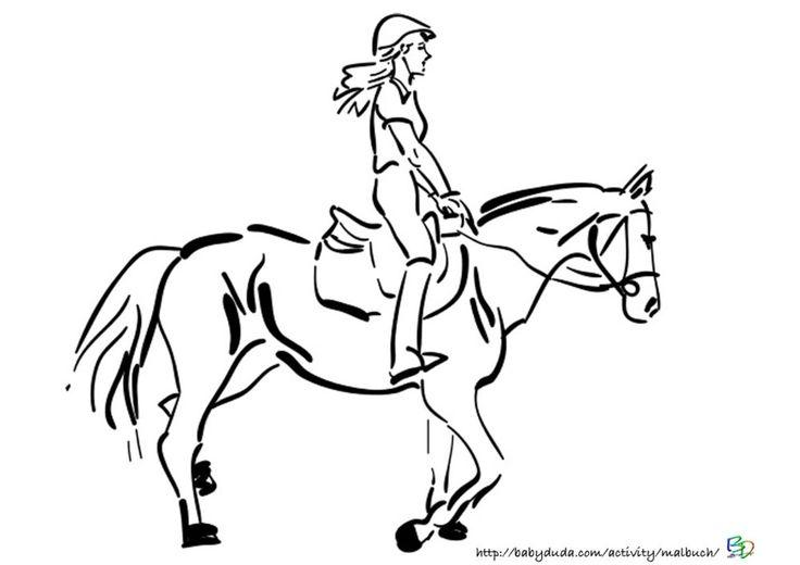 pferdebilder ausmalen: pferdeköpfe ausmalbilder