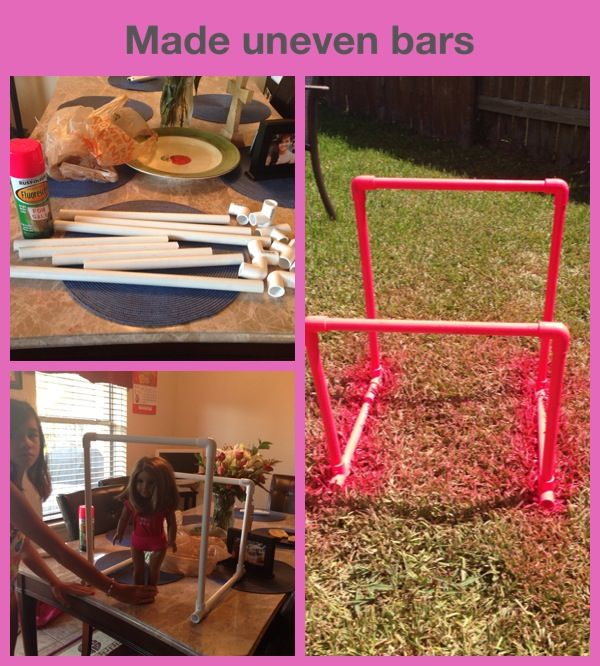 Made uneven bars for my daughter's American girl doll.