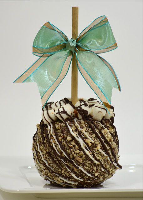 Rocky Road Gourmet Chocolate Caramel Apple by BigBearChocolates