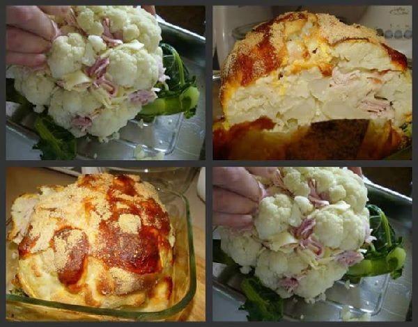 A Couve-Flor Recheada de Forno é um acompanhamento delicioso e prático para a sua refeição. Faça para o almoço ou jantar em família e deixe todos com água