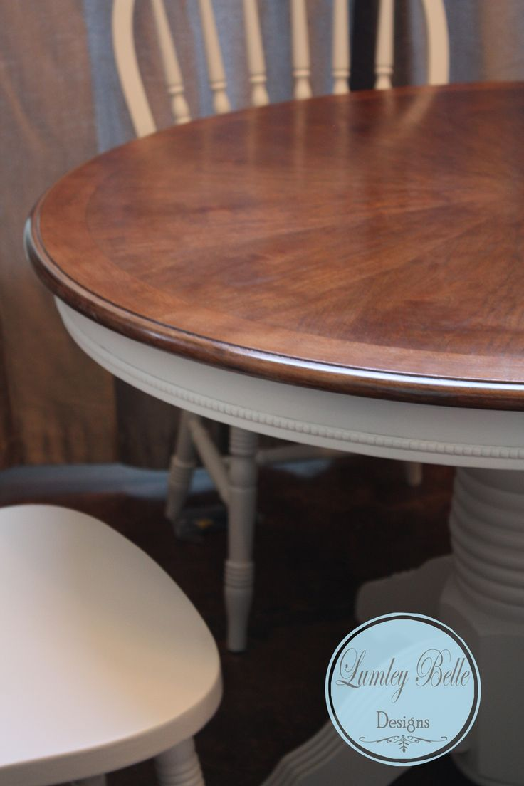 Antique kitchen work table - Lumley Belle Designs Refinished Painted Antique Ivory Windsor Chair And Round Pedestal Table Base With