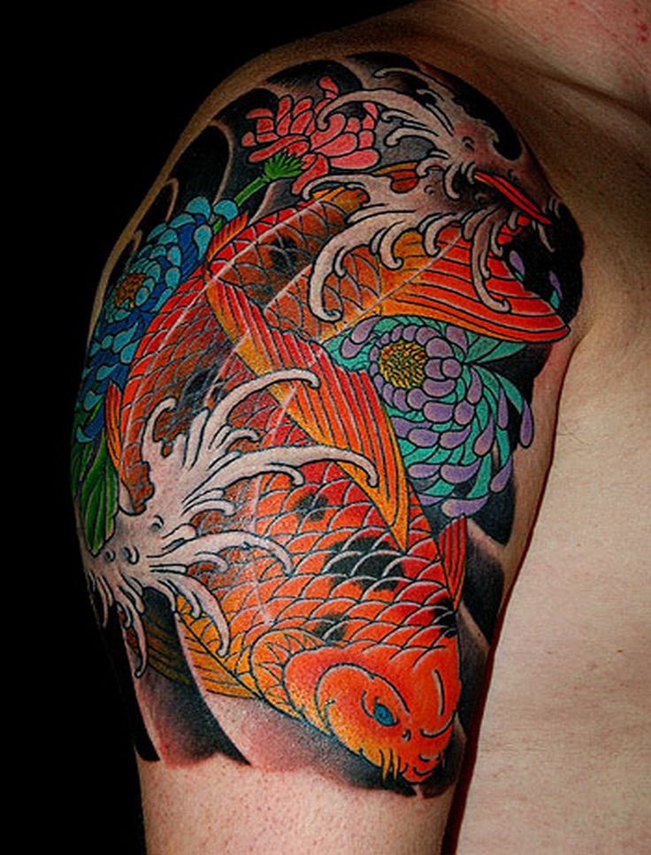 65 Japanese Koi Fish Tattoo Designs Meanings: Discussing About Water Tattoo Designs : Traditional