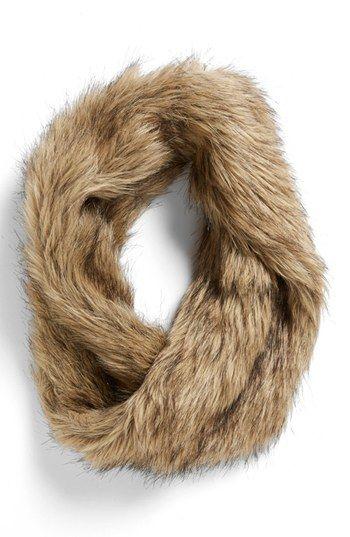 Faux fur infinity scarf #cozy