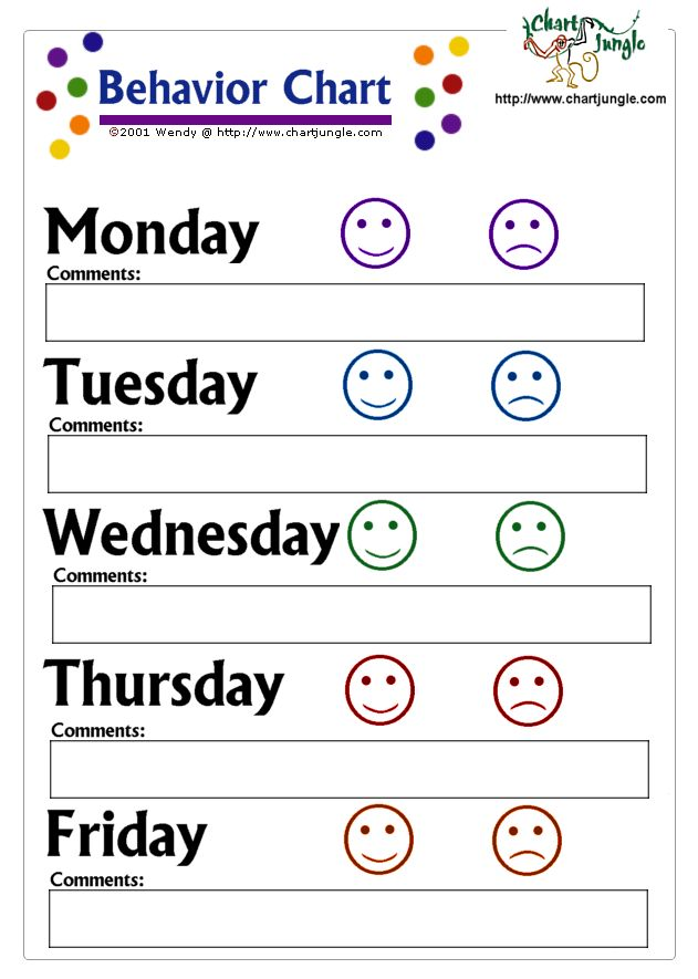 Printable Behavior Charts - Bing Images