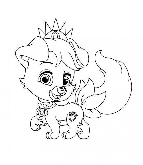 Palace Pets Coloring Pages Disney Princess Palace Pets Coloring